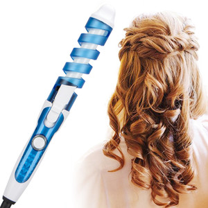 Labra la herramienta de belleza envío libre del bigudí del rodillo del pelo espiral Tenaza Salon Curling Wand eléctrico profesional pelo Styler
