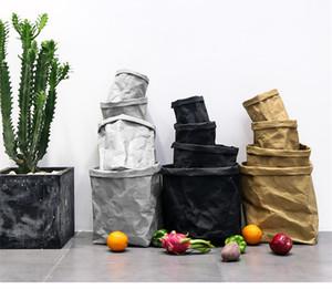 مصنع VMAE جودة عالية متعدد حجم صديقة للبيئة قابل للغسل البني ورق الكرافت مربع كرافت كيس ورقي وعاء الزهور لالمزارعون في الأماكن المغلقة
