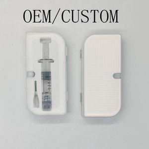 0,8 ml 1,0 ml Luer Lock cristal jeringa de vidrio del inyector con medida de la marca Oil Tools relleno para 510 carros de Vape cartuchos de embalaje