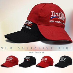 اثنين من الأساليب التطريز القطن قابل للتعديل تنفس القبعة ترامب 2020 إبقاء أمريكا العظمى كاب البيسبول في الهواء الطلق ترامب للجنسين قبعات BH1034 TQQ
