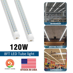 LED 튜브는 120W 8피트 4피트 60W 통합 T8 튜브 조명 SMD2835의 110lm / W 높은 밝은 서리로 덥은 투명 커버 AC 85-265V UL DLC 조명