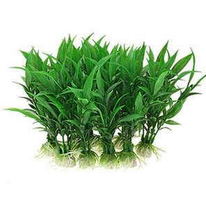인공 수족관 물고기 탱크 수생 장식 홈 장식 플라스틱 녹색 잔디 수족관 공급 GB348 식물