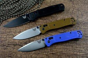 Nuevo 535 benchmade cuchillo plegable de la lámina 440C arandela de latón G10 3 colores para acampar al aire libre de las herramientas de caza de la supervivencia del cuchillo del EDC del bolsillo