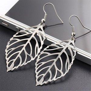 EK648 Brincos Dangle Vintage Bohemia Long Big Hollow Leaf Drop Earrings For Women Wedding Jewelry Gift Accessories Pendientes