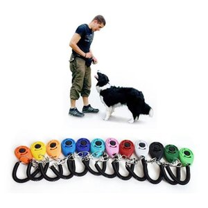 Pet Dog Training Click Clicker Agility Training Trainer Aid Dog Training Obedience Supplies with telescopic rope and hook GH250