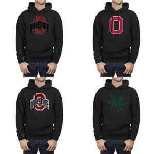 Ohio State Buckeyes Männer übergroße Sweatshirt Ultra Soft Fußball USA-Flagge Plüsch Futter Comfort netten Hoodie primären Team Logo Goldene