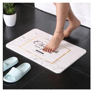 2018 Nuovo designer 35 * 45cm Tappetino da bagno di lusso Materiale di diatomite di alta qualità Assorbimento d'acqua Porta da cucina Tappetino Accessori per il bagno