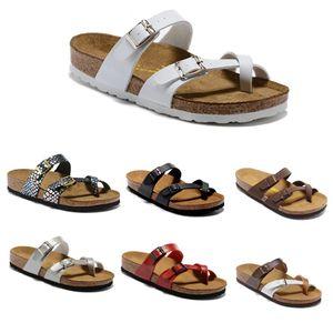 2019 estate nuovo stile Uomo Donna Sandali piatti casual in pelle comodo due Summer Beach fibbia originale Mayari Genuine Leather Slipper