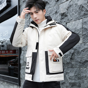New han edition men cotton-padded clothes tooling down cotton-padded jacket winter 2019 popular with thick