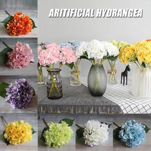 Regalos de la sede artificial del Hydrangea DIY boda de Navidad Decoración para el hogar falso flores plásticas del hogar Productos de ratán