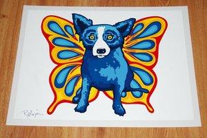 George Rodrigue chien bleu Ailes du chien Home Décor peint à la main HD Imprimer huile sur toile Wall Art Toile Photos 200115