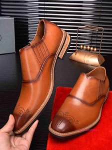2020 ltaly mens dress formal Leather Shoes business wan1
