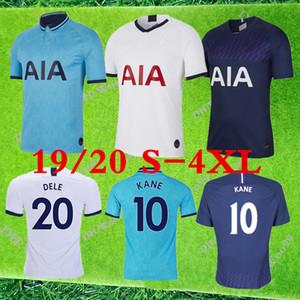 4XL 2019 Spurs maison blanche # 10 maillots de football KANE 19 20 Men # 7 SON # 20 DELE manches courtes bleu loin des adultes football Uniformes En solde