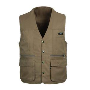 Fotografia Grandwish Pesca Outdoor Vest Coletes respirável Men Jacket Multi-bolsos Coletes Masculino caça Vest, GA128