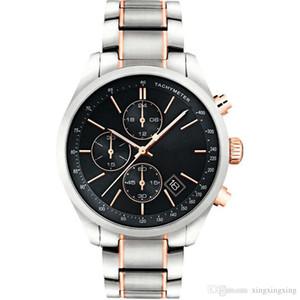 venta caliente 1513473 + 1513477 + 1513478 Reloj Negro Cara de los hombres del cronógrafo