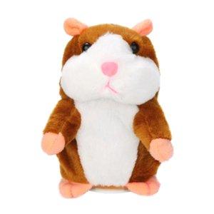 Talking Hamster Peluş Oyuncaklar Fare Pet Ses Kayıt Peluş Hamster Doldurulmuş Oyuncaklar Bebek Çocuk Çocuk Eğitim Oyuncaklar