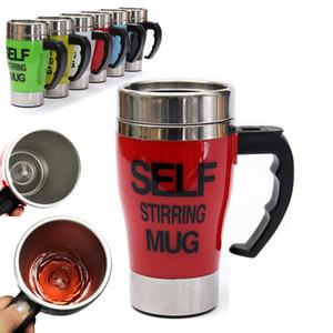 350ml mismo perezoso removiendo café Auto de mezcla regalos de café taza de té taza de la oficina al aire libre Inicio Coches de acero inoxidable de 6 colores 10pcs Brief NNA604