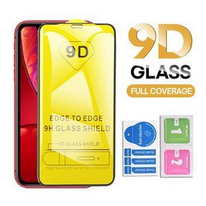 9D полное покрытие Клей Закаленное стекло экрана протектор для iPhone 11 Pro XR X XS MAX 8 7 6 Samsung A20 A50 A70