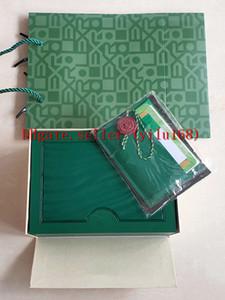 Оригинальные правильные подходящие документы охранные карты подарочная сумка в верхней части зеленой деревянной часовой коробку Все коробки буклетки смотреть бесплатные 7750 печать