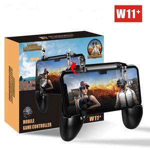 W11 + PUBG Cep Gamepad Joystick Metalen L1 R1 Tetik Oyunu Shooter Denetleyici iPhone Android telefon için Oyun Gamepad