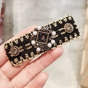 New Baroque Korea Heavy Industries diamond BB clip hairpin upscale boutique red network models back of the head hair accessories hairpin 29