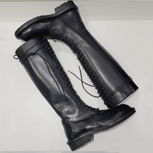 New hot sale Fashion Shoes Women Boots Leather Over Knee Boots Martin Skinny Knight Boots Western style size 35-40