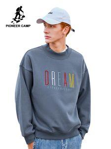 Pioneer Camp Moda Kalın Kapüşonlular Erkekler Kış Erkekler AWY901305 için Sıcak Fleece% 100 Pamuk Nedensel Streetwear Sweatshirt