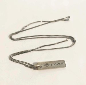 MMM الأزياء بلجيكا جودة عالية تصميم 925 الفضة العلامة الرقمية قلادة الهيب هوب للجنسين قلادة هدية عيد ميلاد