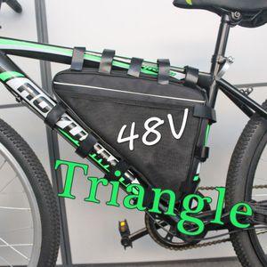 O direito aduaneiro triângulo pacote 드 bateria 드 LITIO DA bateria 48 V 20AH bateria bicicleta elétrica 파라 1,000 W