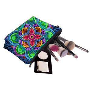 Bohemia Stil Çiçek 3D Baskı Kozmetik Çanta Kadınlar Seyahat Makyaj Çantası Çanta Fermuar Kozmetik Case Çiçek Baskılı Çanta Araçları RRA1571 16styles