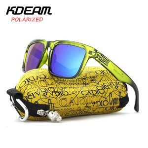 KDEAM óculos polarizados Homens Reflective Coating Quadratura Sol Óculos Mulheres Marca Designer UV400 com caso original do KD901P-C8 SH190924