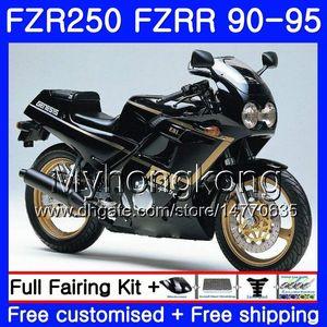 FZRR nero caldo pieno Per YAMAHA FZR-250 FZR 250R FZR250 90 91 92 93 94 95 250HM.20 FZR 250 FZR250R 1990 1991 1992 1993 1994 Kit carenatura 1995