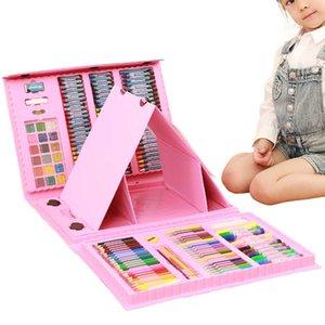 176 Pcs / Set Crianças Pintura da cor de água Pen Tool Set desenho de escova primária por Supplies Art Markers Aprendizagem