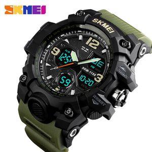 SKMEI Top Men's Sport Watch LED Digital Man Clock Outdoor Waterproof Dual Display Relogio Masculino 1155B
