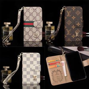 Neue Designer-Telefon-Kasten-Leder-Mappen-Kasten für iPhone 11 11Pro Max Xr Xs Max 7 8 Plus Fall Klassischer Luxus-Telefon-Kästen
