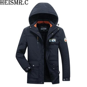 Men Down & Parkas 2018 Winter Cotton-padded Jackets Men&#039 s Casual Fleece Thicken Coats Warm OverCoat Men&#039s Clothes Big