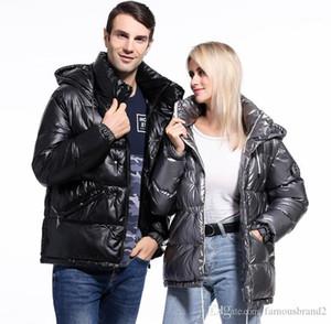 모자 분리 가능한 여자 망 코트 광택 표면 파카 겨울 디자이너 재킷 패션 캐주얼 후드가 두꺼운 따뜻하게