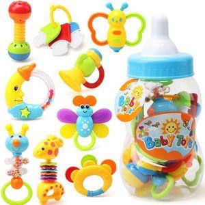 Mano Música Kuulee juguete del bebé 0-1 Años de Edad de los niños Rattle guar Botella del aerosol Conjunto de 9 alta calidad de sonido del bebé Juguetes Salud T200429