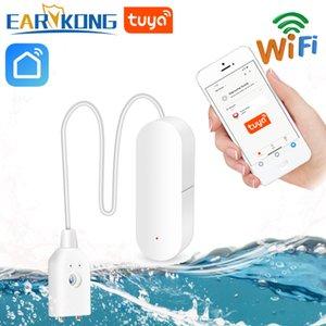 Alarme 2pcs EARYKONG WiFi inteligente Tuya Água Sensor de Fuga Tuya água compatível com instalação Tuyasmart / Smart Vida APP Fácil