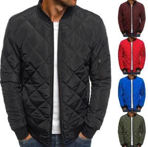 2019 Yeni Moda İnce Coats Erkekler Hafif Windproof Packable Ceket Katı kış Sıcak Hip Hop Erkek Jackests Dış Giyim