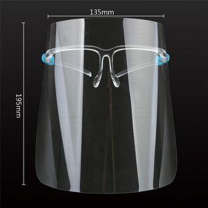 De los Estados Unidos, la máscara protectora de la cara llena con la máscara transparente gafas anti fluidos careta de protección del polvo anti salpicaduras Boca Cara protectora transparente
