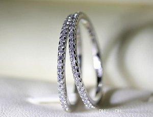 Victoria Wieck alta joyería de lujo 925 Completo blanco imponente del zafiro Partido Diamante CZ mujeres compromiso de la boda de la banda del anillo de regalo