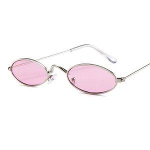 90-е красные очки узкие маленькие круглые солнцезащитные очки винтажный бренд-дизайнер металлическая рамка линзы овальные очки мужские оттенки прохладно
