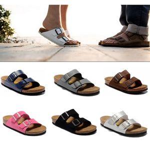 Arizona 2020 New Summer Beach Cork Slipper Tongs Sandales femme couleurs mélangées Slides Casual chaussures plates Livraison gratuite 34-47