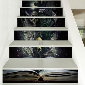 Livre d'autocollants Hallween sur Halloween: discussions sur l'autocollant d'escalier, le papier peint imperméable amovible et le papier peint bricolage
