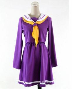 NO GAME NO LIFE Shiro Uniformes escolares Cosplay Disfraz Conjunto de vestido + calcetines