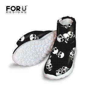 Stivali invernali per la femmina signore calzature calde del FORUDESIGNS del cranio del fumetto Donne adolescenti Ragazze Boots Australia piatto Racchette da neve
