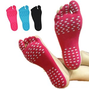 1 Pair Adhesive Foot Pads Feet Sticker Stick On Soles Flexible Antislip Beach Feet Protection Invisible Beach equipment Water Sports Soft F