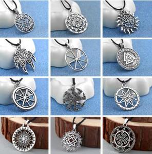 Figlio di corda catena collana del pendente di Sun Sloar Kolovrat slava Amuleto vichingo Dichiarazione Gioielli per i regali Boyfriend
