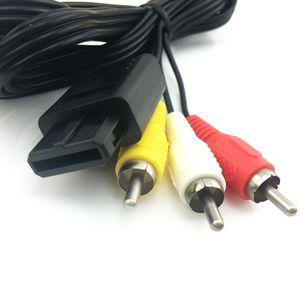 180cm de haute qualité 6FT RCA AV TV Vidéo Câble Câble pour Game Cube / SNES pour GameCube / pour Nintendo N64 64